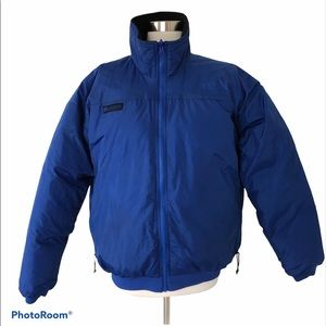 Columbia Down Reversible Winter Coat Blue Black L